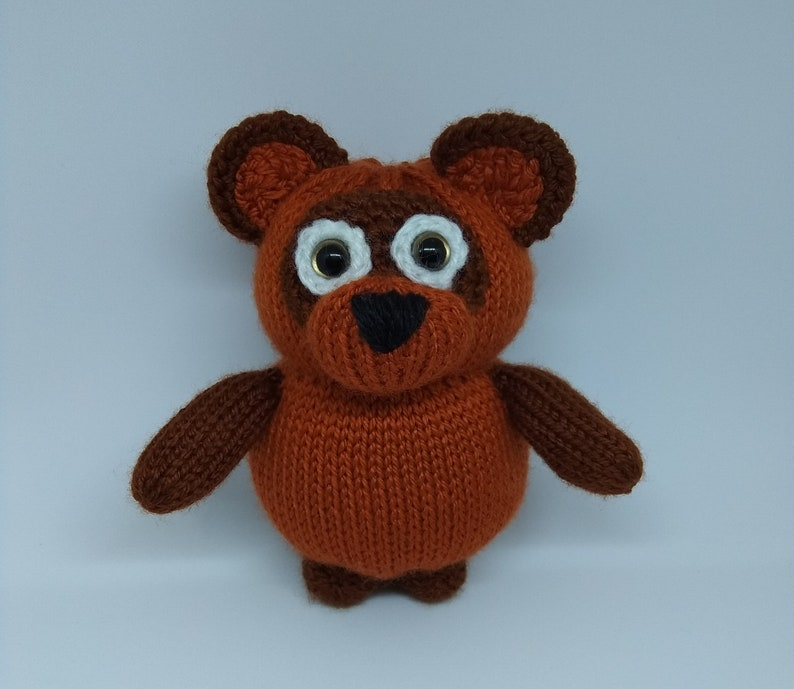 Russian Winnie The Pooh Inspired Toy Ready made 15 cm Knitted Bear Toy