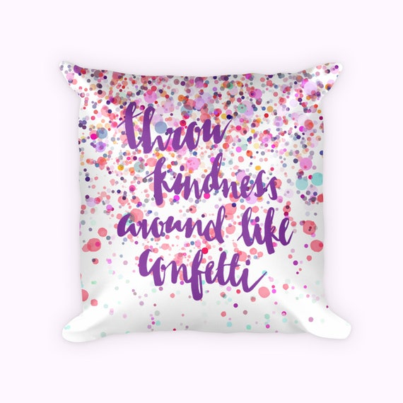 Pillow with fun quote, Roommate Pillow gift, Pillow funny quotes printed,  Colorful Fun Pillow