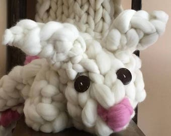 Chunky Knitted Giant Bunny named Thumper:)