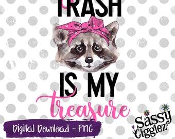 10in x 3in Your Trash My Treasure Vinyl Bumper Sticker Window Decal Stickers Decals