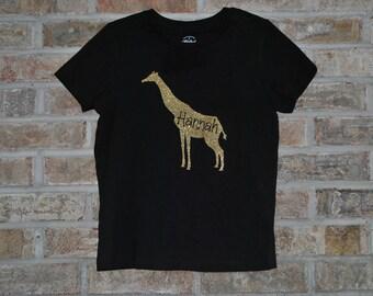 Girls Giraffe Shirt