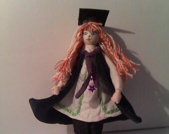graduation present, dressed peg doll, recycled gift, handmade peg doll