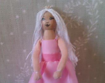 dressed peg doll, princess peg doll, handmade peg doll