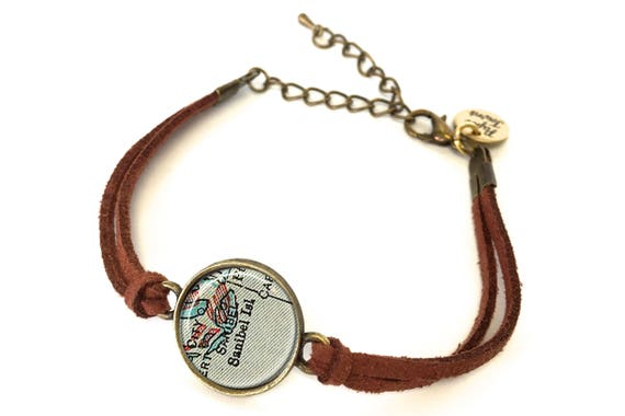 Sanibel Island Florida Map.Sanibel Island Florida Map Bracelet Created From A 1927 Etsy