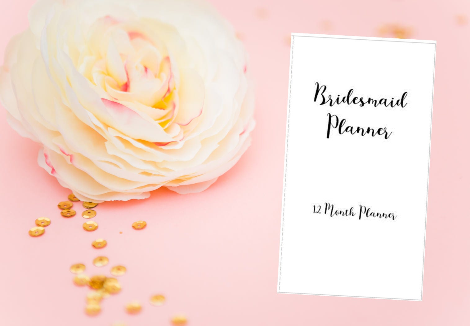 Gifts For A Wedding Planner: Printable Bridesmaid Planner Wedding Planner Bridesmaid