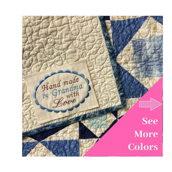Custom Quilting Tag Large Custom Labels Personalized Quilt Labels Custom Quilt Labels Personalized 4x5 Inch Finished Edge Embroidered Label
