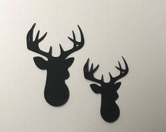 Christmas decor die cut felt Felt Reindeer die cut stag Stag Head Christmas