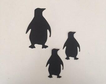 30 Cardstock Penguin Cut Outs