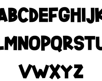 Cardstock Block Letters
