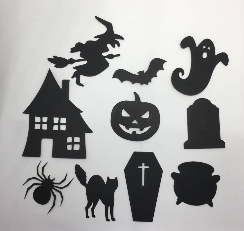 Cardstock Halloween Cut Outs