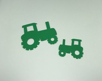 30 Cardstock Die Cut Tractor Cut Out