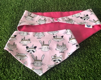 Enchanted Wood Creatures Snap on Dog Bandana Perosnalised with your Dogs Name