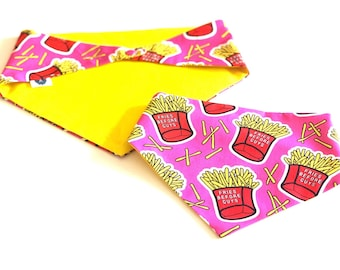 Fries Before Guys Snap on Dog Bandana Perosnalised with your Dogs Name