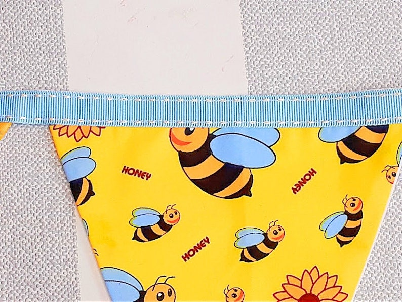 baby room bunting nursery decor baby nursery bunting boho nursery woodlands nursery baby shower gift Honey bees gender neutral bunting