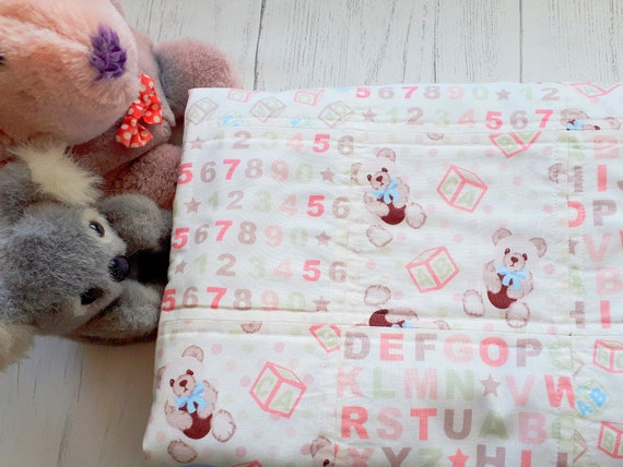 Embroidered Teddy Bear Comforters BaubleComforter Personalised Baby Comforters
