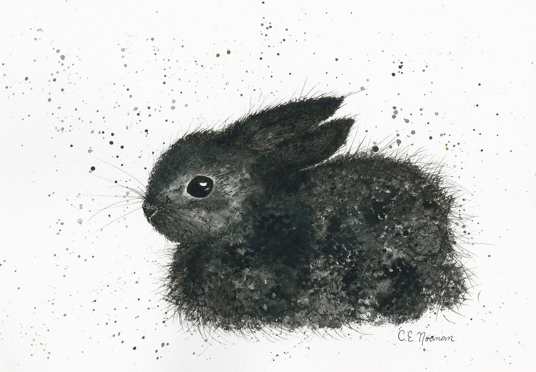 Bunny Pilot Watercolor Canvas Print Gender Neutral Nursery