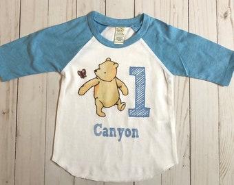 d1519a0ba Classic Pooh Shirt, Winnie the pooh shirt, Winnie the pooh birthday shirt, Pooh  shirt with name, boys Pooh shirt, girls pooh shirt