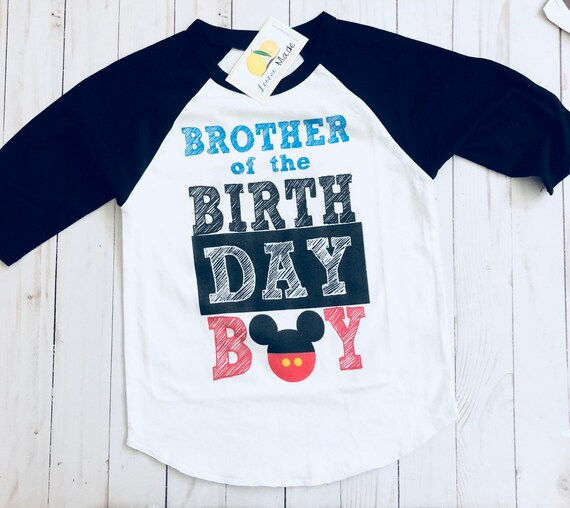 Brother Of The Birthday Boy Shirt Disney
