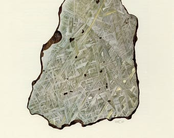 Mineral Vintage lithograph of the Iron from 1967