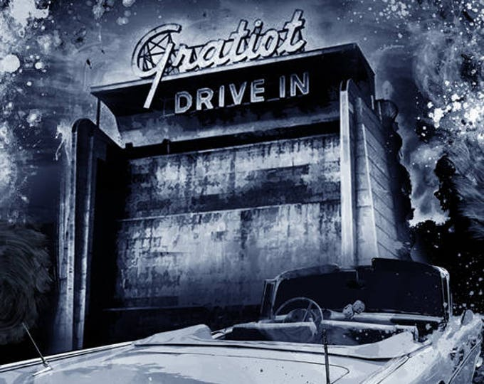 1957 Chevy Gratiot Drive-In Limited Edition Signed Print