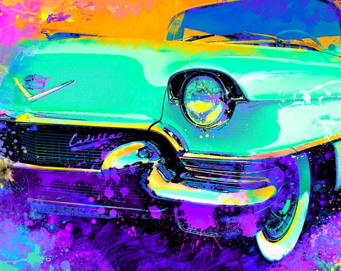 1956 Cadillac Coupe DeVille Limited Edition Signed Print
