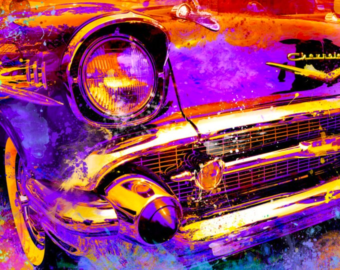 1957 Chevrolet Bel Air Limited Edition Signed Print