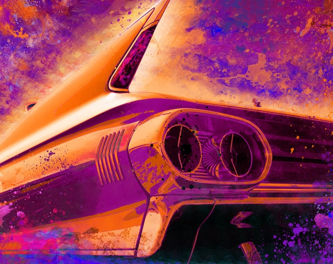 1961 Cadillac Coupe De Ville Limited Edition Signed Print