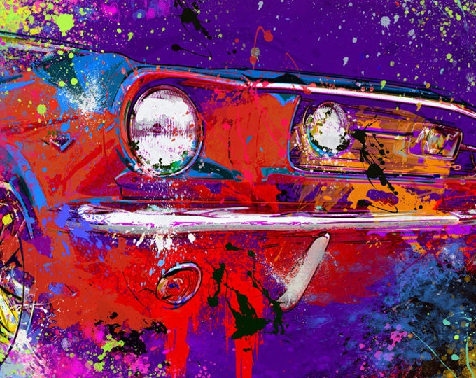1966 Ford Mustang Limited Edition Signed Print