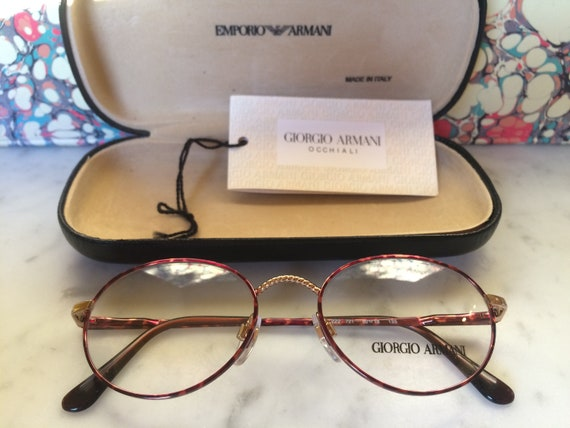 cd10574019 GIORGIO ARMANI VINTAGE Early 1990s frames glasses Unisex - Brand New Old  Stock Very Rare (Ga 222 721)