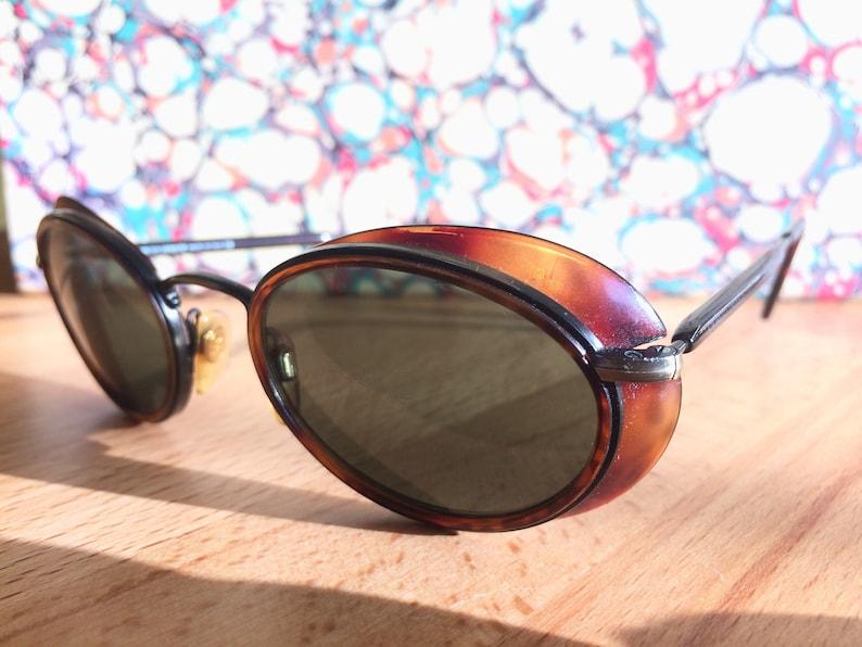 5942e3016e4a Vintage Rare GIORGIO ARMANI Sunglasses Tortoiseshell w  Eye