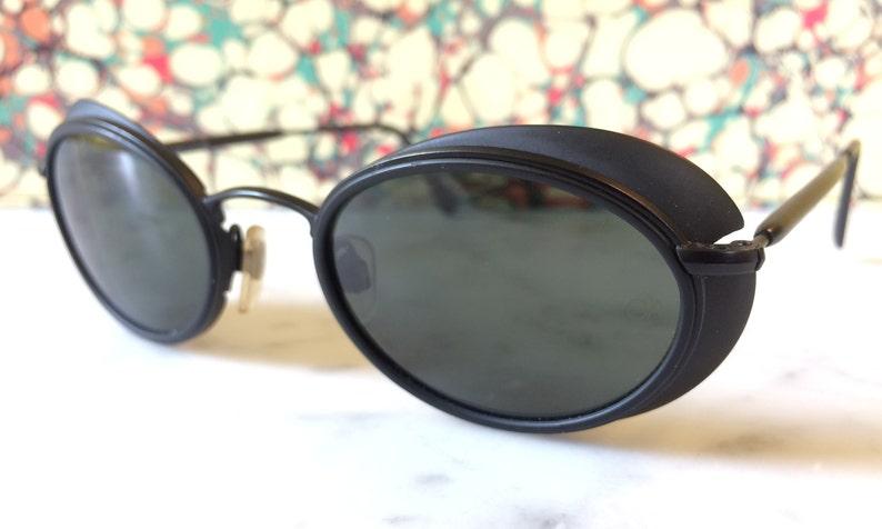 0c4e5c7b3a7c Vintage Rare GIORGIO ARMANI Sunglasses Black w/ Eye Cups   Etsy
