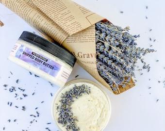 Lavender Whipped Body Butter 8 oz | Shea Butter | Organic Body Butter | Belly Butter | Cocoa Butter | Dry Skin Moisturizing Body Butter