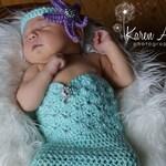 Newborn Mermaid Outfit / Crochet Mermaid Outfit / Newborn Costume / Mermaid Costume / Baby Mermaid