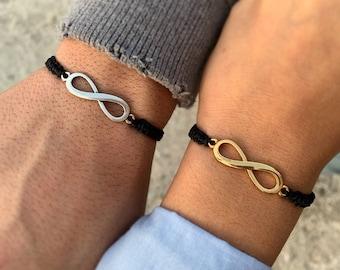 INFINITY BRACELET III Silver infinity bracelet Infinity for wome for men