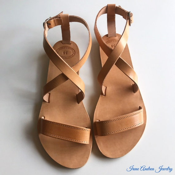 28458214c141b Sandals Made Women's Greece Sandals Greek Sandals Strappy Leather ...