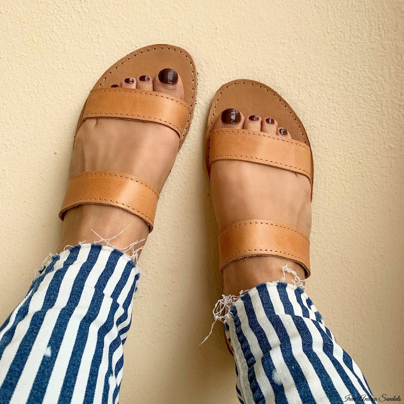 Greek Ancient Sandals Strappy Sandals Brown Sandals Greek Leather Sandals Handmade Sandals Women Shoes Made in Greece Leather Sandals
