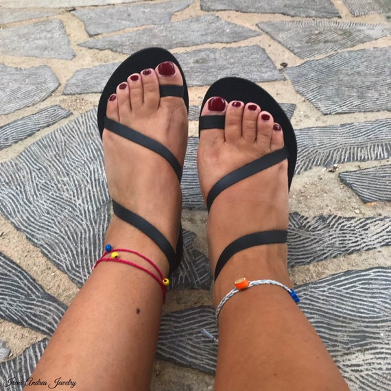 grecques cuir sandales cuir sandales femme Sandales sandales grec en en sandales zwSxqag