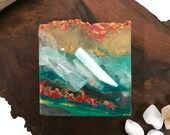 Dragon Blood Stone Soap - Polished Agate Square Crystal Hand Bath Bar Soap (100 Peppermint Essential Oil Scent) PM0026