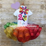 Crayon Theme Birthday Outfit - Crayon Birthday Outfit- Crayon Tutu- First Birthday Outfit - 1st Birthday Outfit - Personalized Outfit - Glit