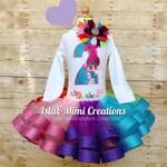 Trolls Birthday Outfit - Trolls Poppy Birthday Outfit- First Birthday Outfit - 1st Birthday Outfit - Personalized Outfit - Glitter Tutu