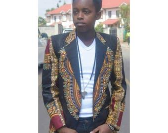 Dashiki blazer, Men's African print Blazer
