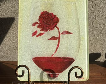 Beauty in the Wine Glass Cutting Board