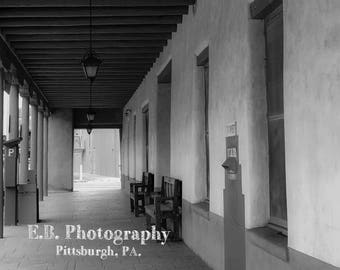 Downtown Santa Fe, New Mexico - Santa Fe Photography - Architectural Photography -  Southwest Architecture - Southwest Art