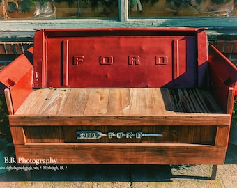 Vintage Photography - Ford Truck Photography - Truck Photography - Up-cycled Furniture Photography - Rustic Photography - Rustic Furniture