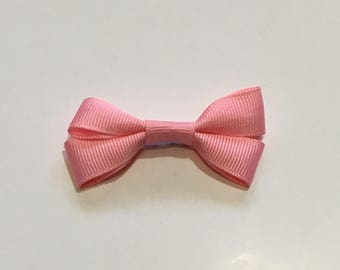 bubblegum pink hair bow with a bobby pin