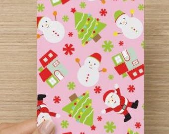 Pink Holiday Card - Pattern