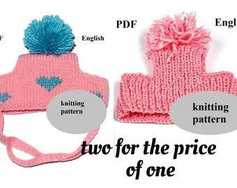 adb85a3685c knit dog hat pattern for small pet winter clothes PDF pattern for pugs dog  beanie mini pig clothes mini pig accessorie for dog