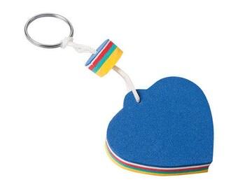 Floating heart shaped Keyring