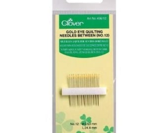 Clover Gold Eye Quilting, No. 12 - 15 Needles Per Pack