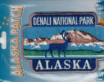 Alaska Iron On Patch Denali National Park 2.25inX3.25in